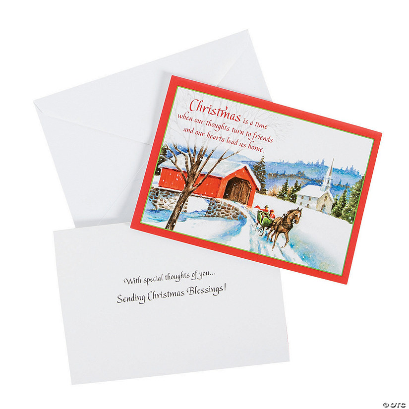 Religious Christmas Cards 2019 Covered Bridge Religious Christmas Cards | Oriental Trading