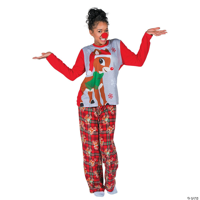 Cute Womens Christmas Pajamas.Women S Rudolph The Red Nosed Reindeer Pajamas