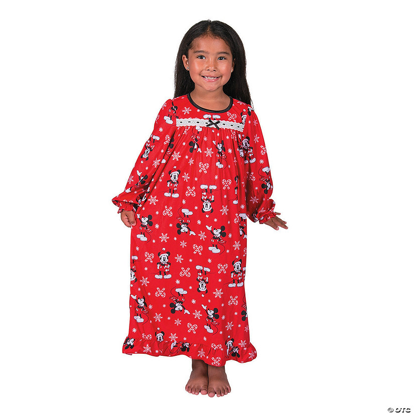 89265b172a Girl s Mickey Mouse Christmas Pajamas