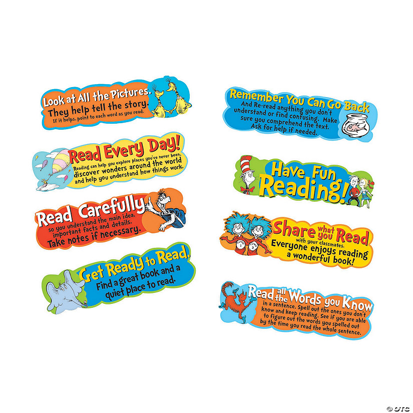 Eureka® Dr. Seuss™ Reading Tips Mini Bulletin Board Set