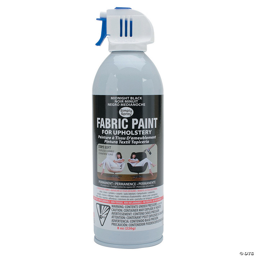 simply spray upholstery spray fabric paint 8oz midnight black