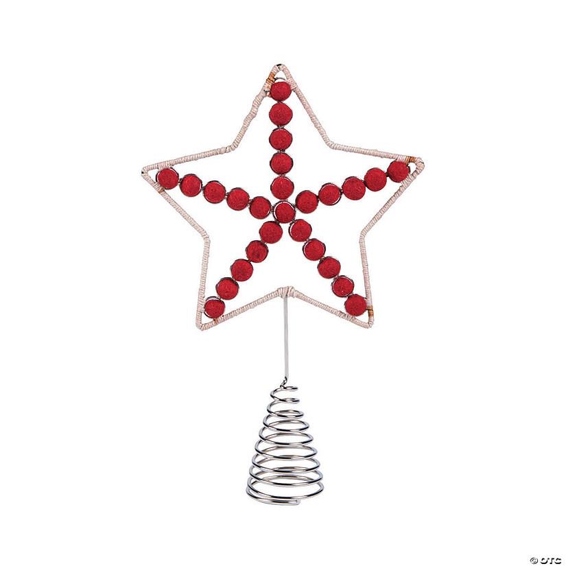 Jute Star Christmas Tree Topper
