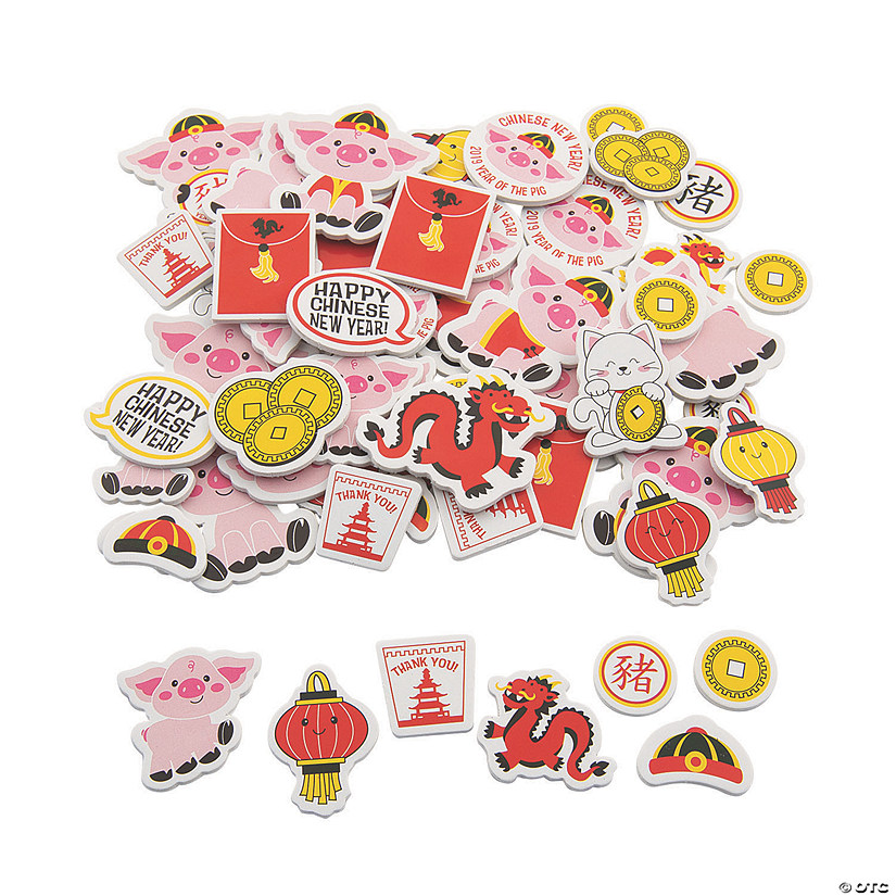 2019 Year Of The Pig Self Adhesive Shapes