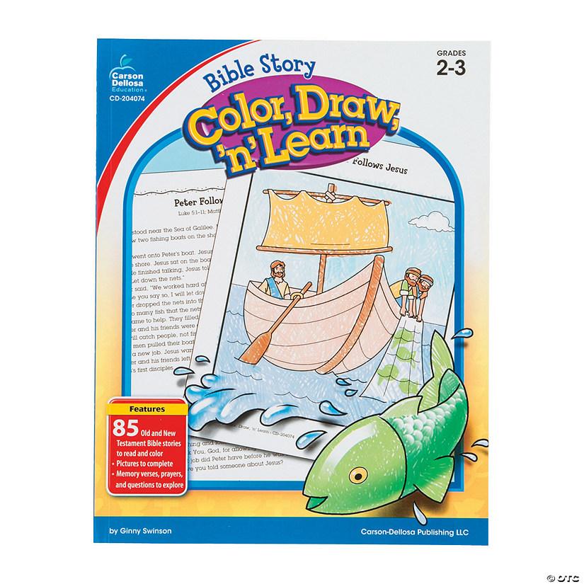 Carson-Dellosa™ Bible Story Color, Draw 'n' Learn Book - Grades 2-3