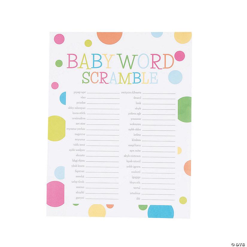 Baby Word Scramble