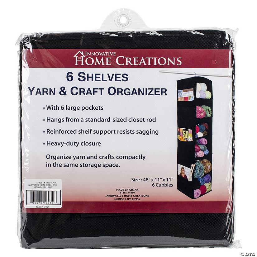 Innovative Home Creations 6 Shelf Yarn & Craft Organizer-Black 48
