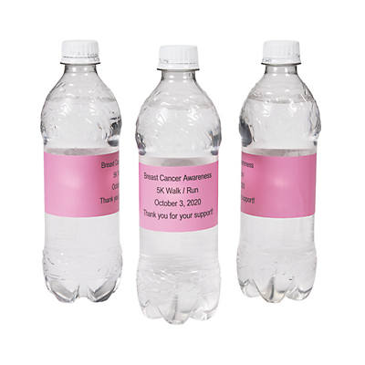 Personalized Solid Color Water Bottle Labels Oriental Trading