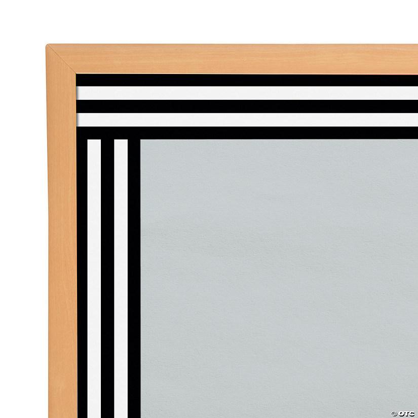 Schoolgirl Style™ Black & White Striped Bulletin Board ...