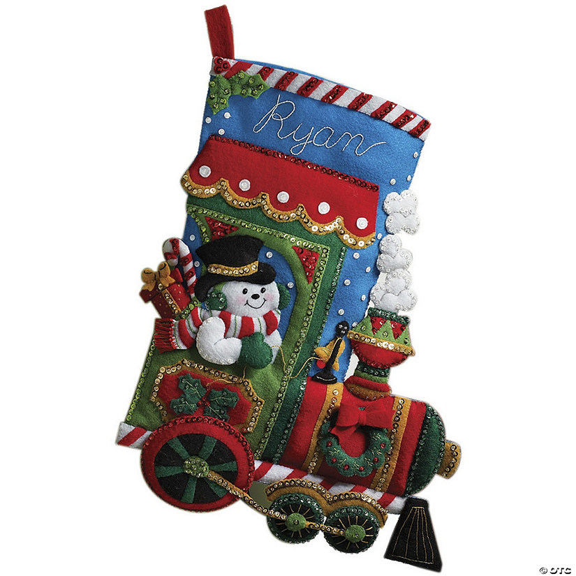 Christmas Stocking Kit.Bucilla Felt Applique Stocking Kit Candy Express