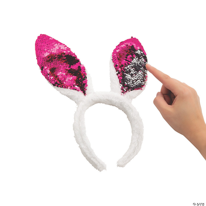 Reversible Sequin Bunny Ears Headbands cd1eaa117738