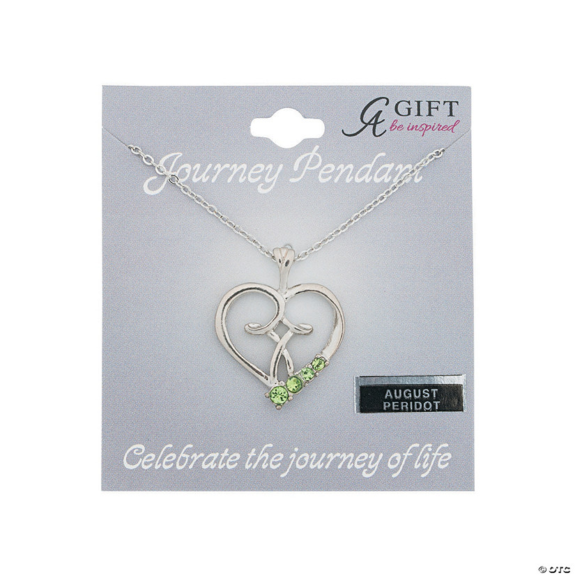 August Birthstone Pendant Necklace