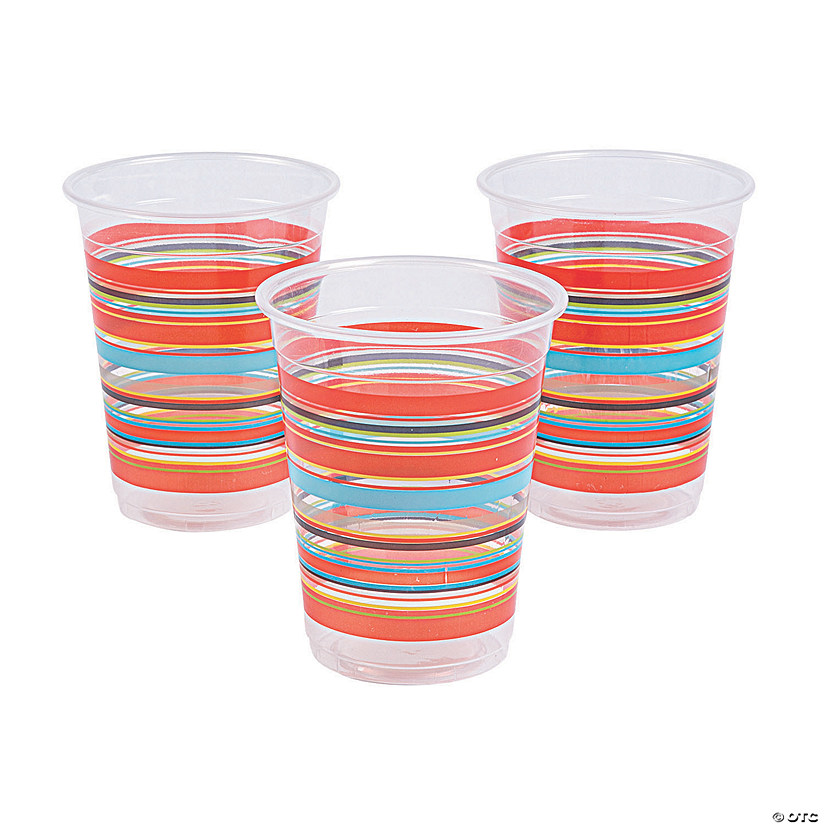 Viva Fiesta Plastic Disposable Cups Oriental Trading