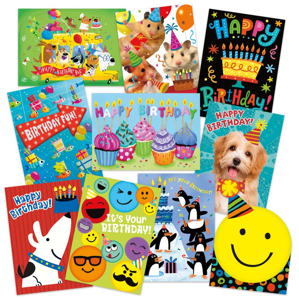 Birthday Fun 10 Card Assortment Pack From MindWare