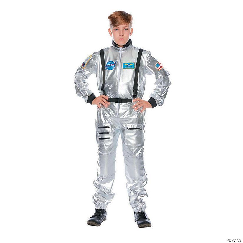 dbe55679b687 Kid s Silver Astronaut Halloween Costume