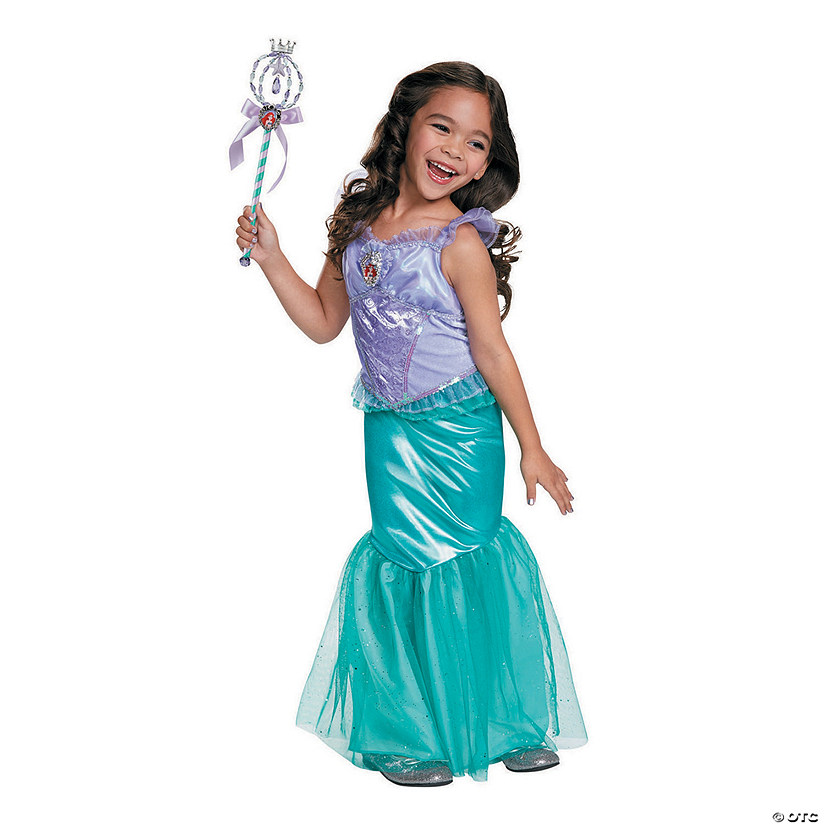 Girls Childs Underwater Blue Mermaid Princess Ariel Kids Halloween Costume