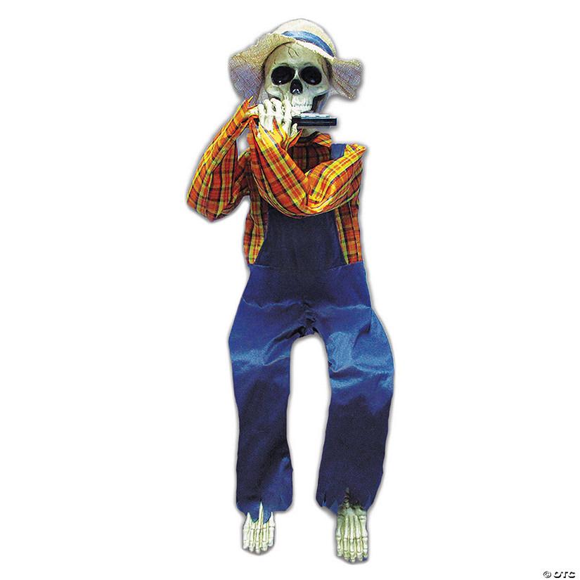 Skeleton With Harmonica Halloween Decoration