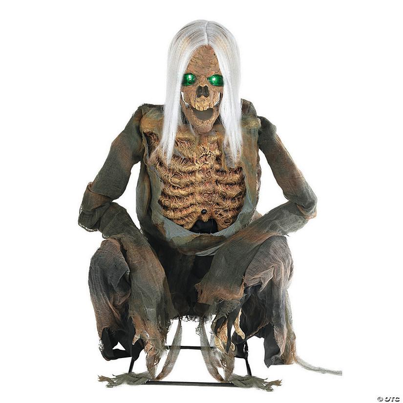 Animated Crouching Bones Skeleton Halloween Decoration