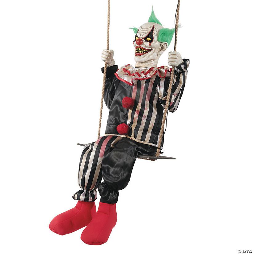 Animated Swinging Chuckles Clown Halloween Decoration