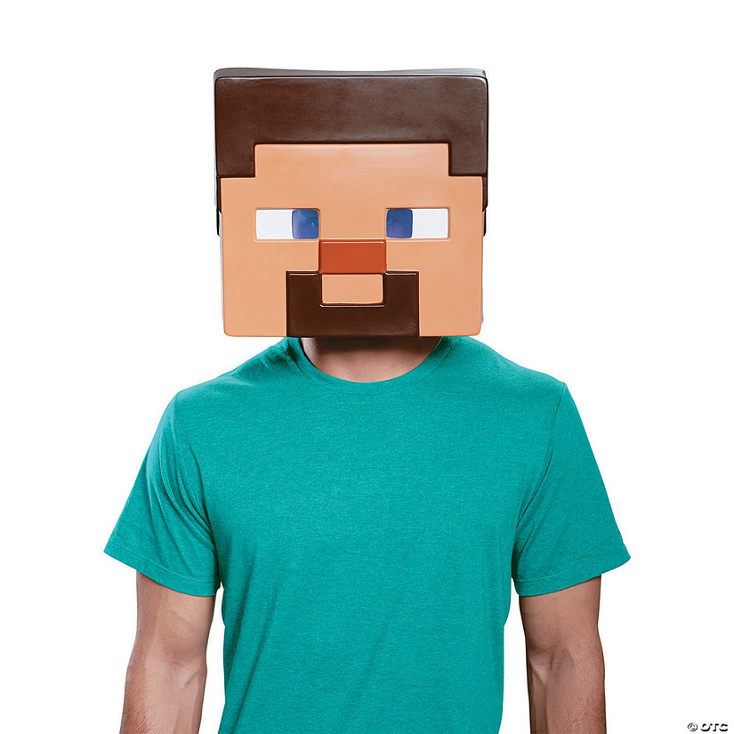 Adult Steve Minecraft Mask | Oriental TradingSteve Minecraft Costume Party City