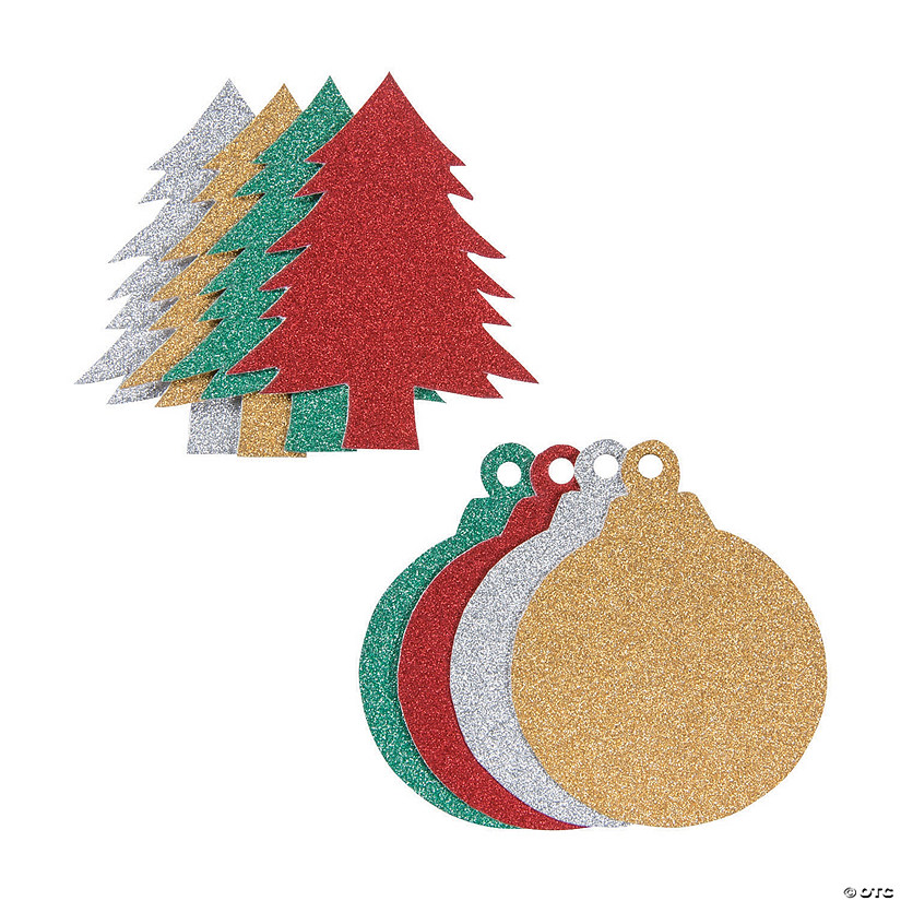 Christmas Shapes.Glitter Christmas Shapes