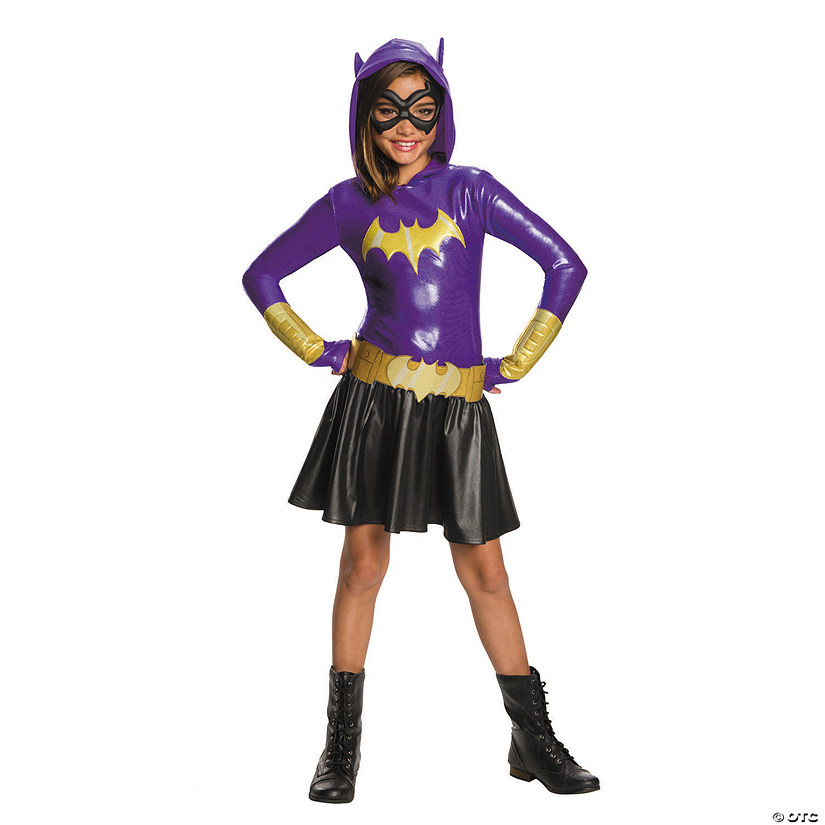 Girls Dc Superhero Girls Batgirl Hooded Dress Costume