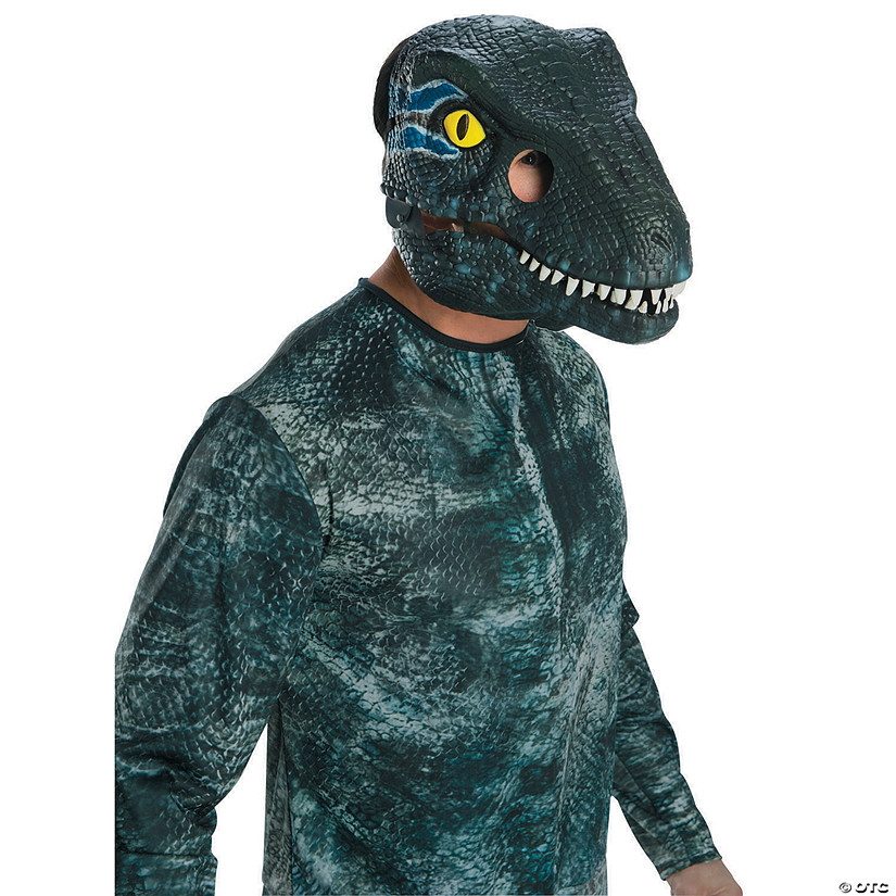 246f1df16 Adult's Jurassic World: Fallen Kingdom™ Blue Velociraptor Moveable Jaw Mask  | Oriental Trading