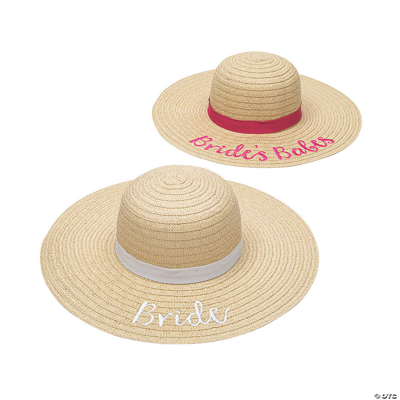 89730c9d Bridal Party Sun Hats | Oriental Trading