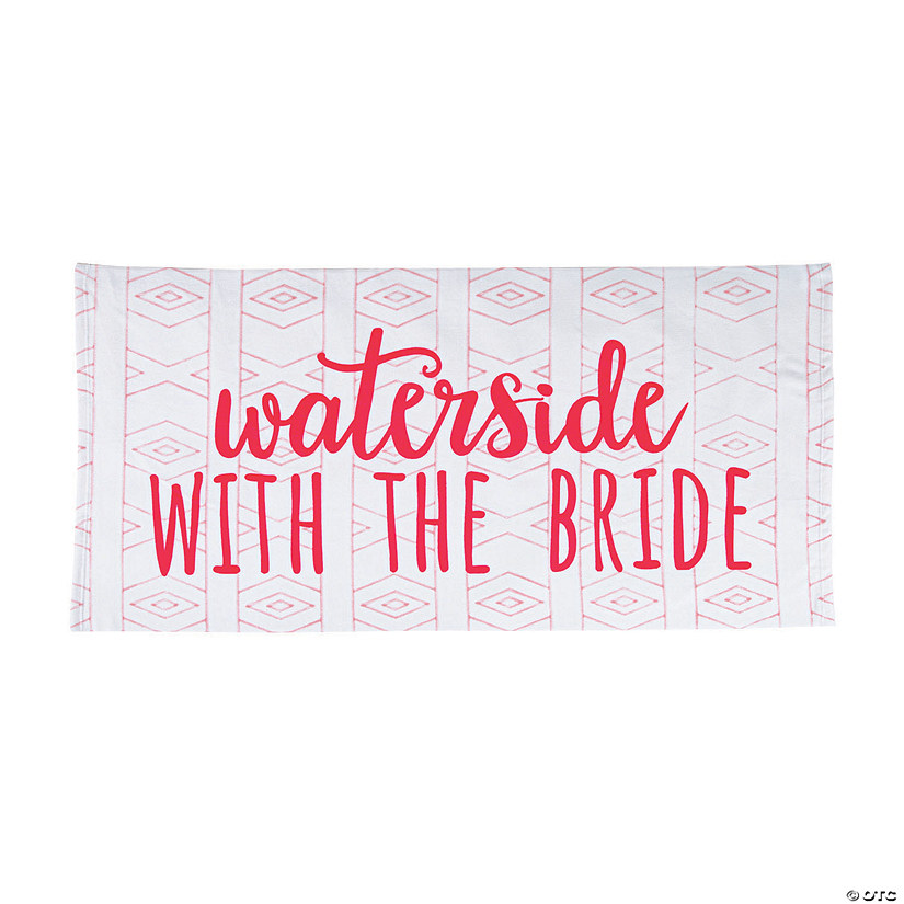 bceee5c13f6 Bridal Party Beach Towel | Oriental Trading