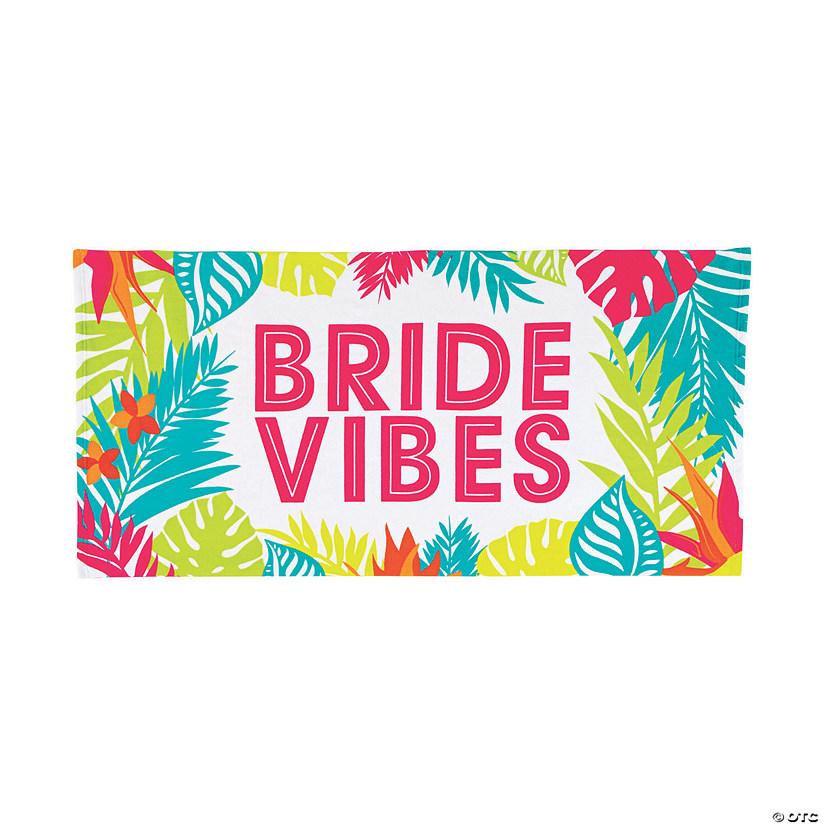 f269a09889f Bride Vibes Beach Towel | Oriental Trading