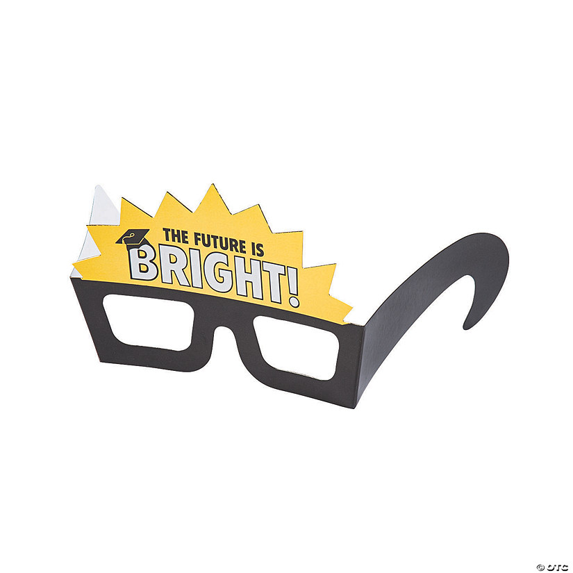 60b61b7d83f6 The Future is Bright Graduation Paper Glasses | Oriental Trading