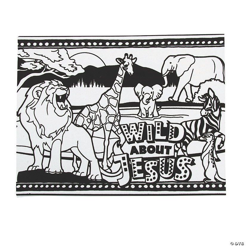 Color Your Own African Safari VBS Fuzzy Posters Oriental