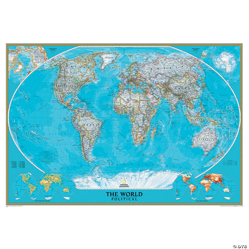 National Geographic World Political Map.National Geographic World Classic Wall Map Mural
