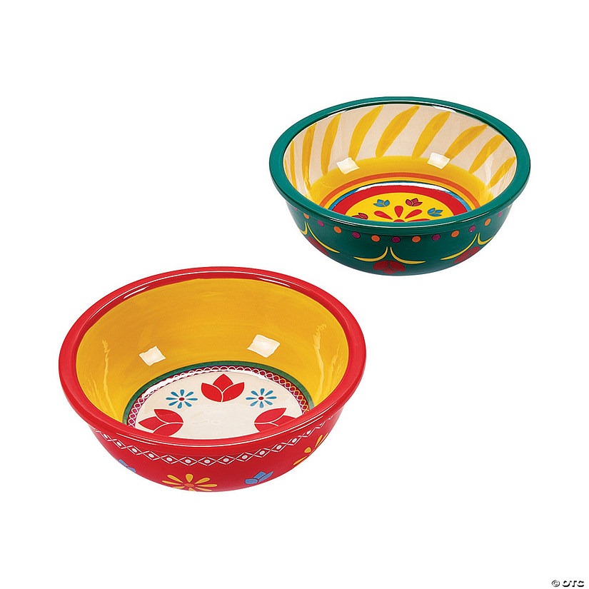 Fiesta Ceramic Bowl Set Oriental Trading