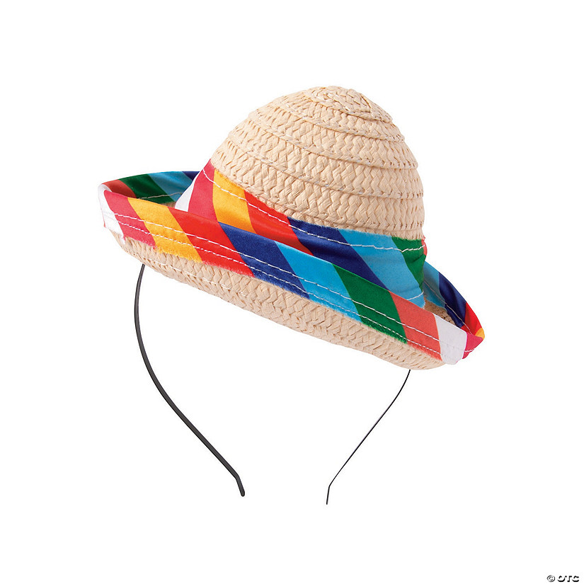 ebab5061c1e24 Mini Fiesta Sombrero Headbands