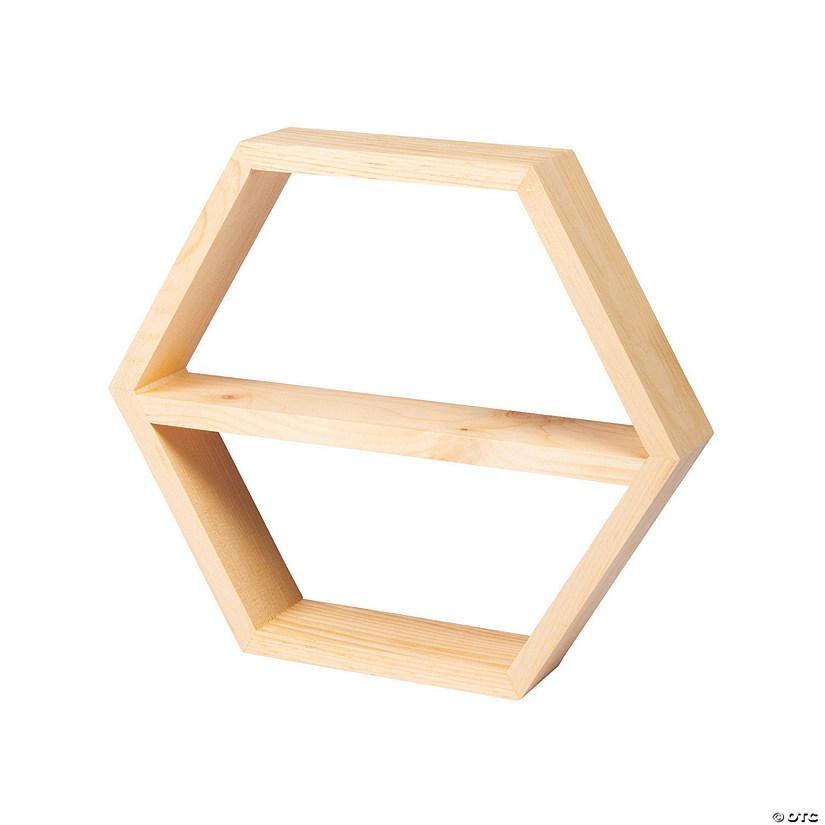 Diy Unfinished Wood Hexagon Shelf