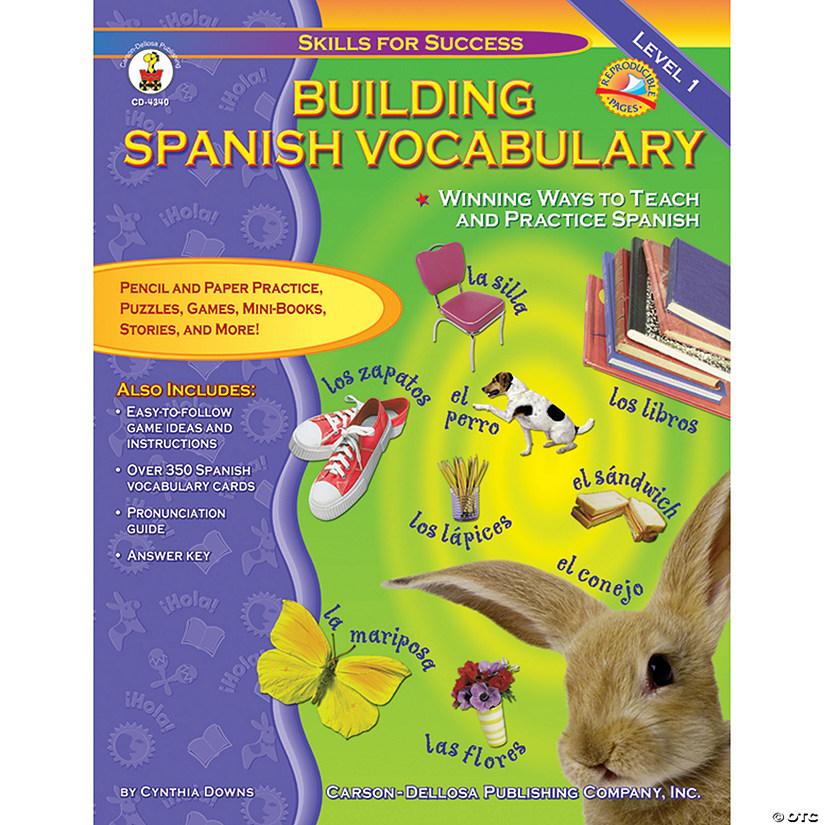 8d1f00e48718 Building Spanish Vocabulary Resource Book, Grade PreK-12   Oriental Trading