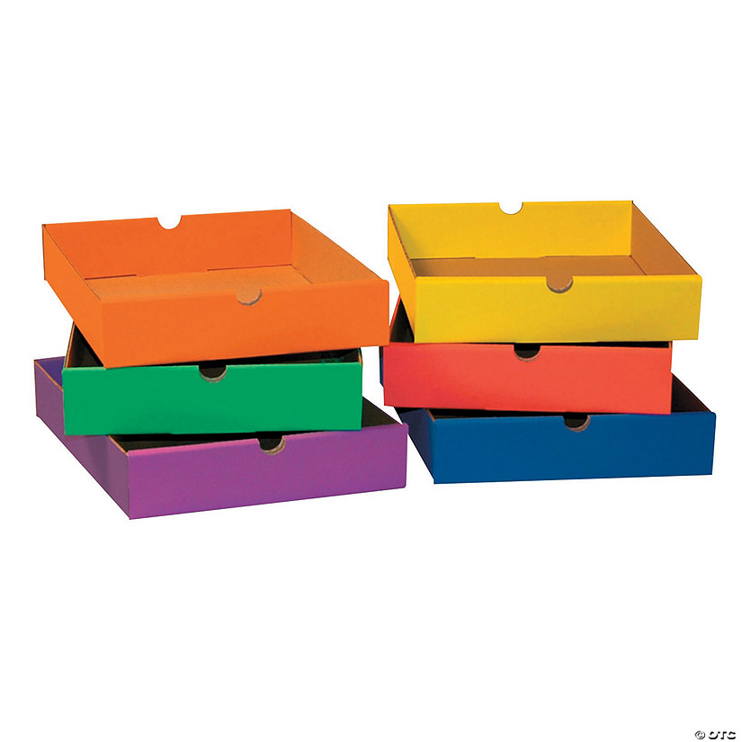 Drawers For 6 Shelf Organizer Assorted Colors 2 5 H X 10 25 W X 13 25 D 6 Drawers Oriental Trading