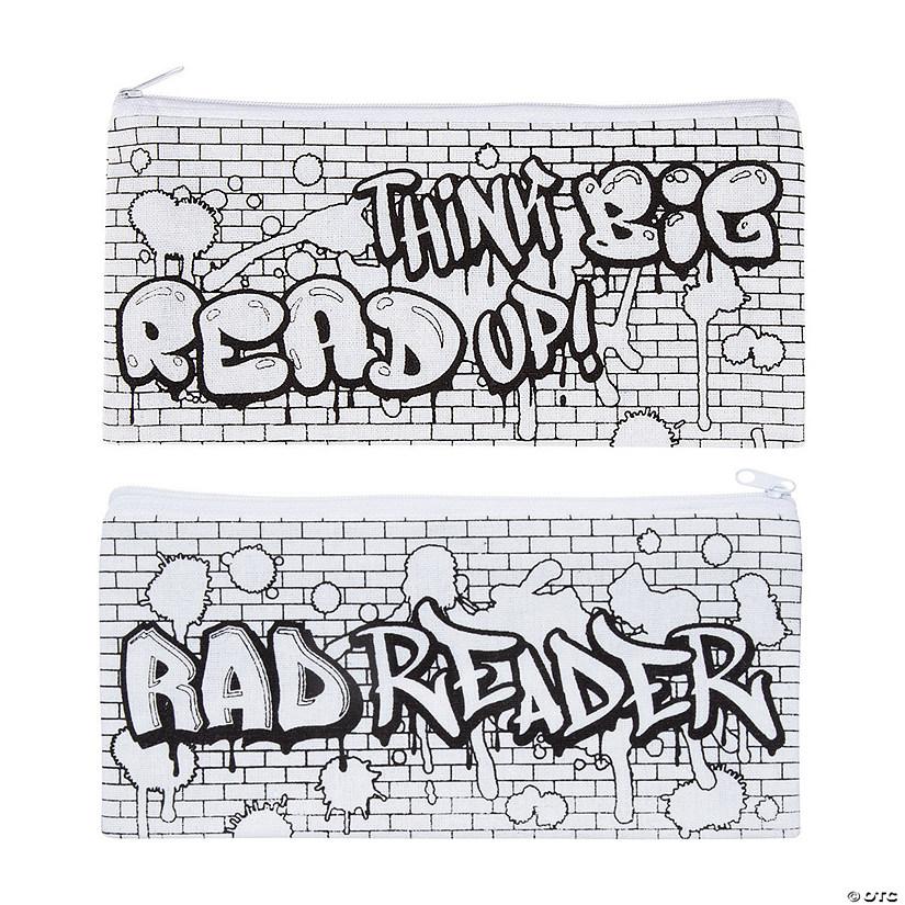 Color Your Own Canvas Rad Reader Pencil Cases