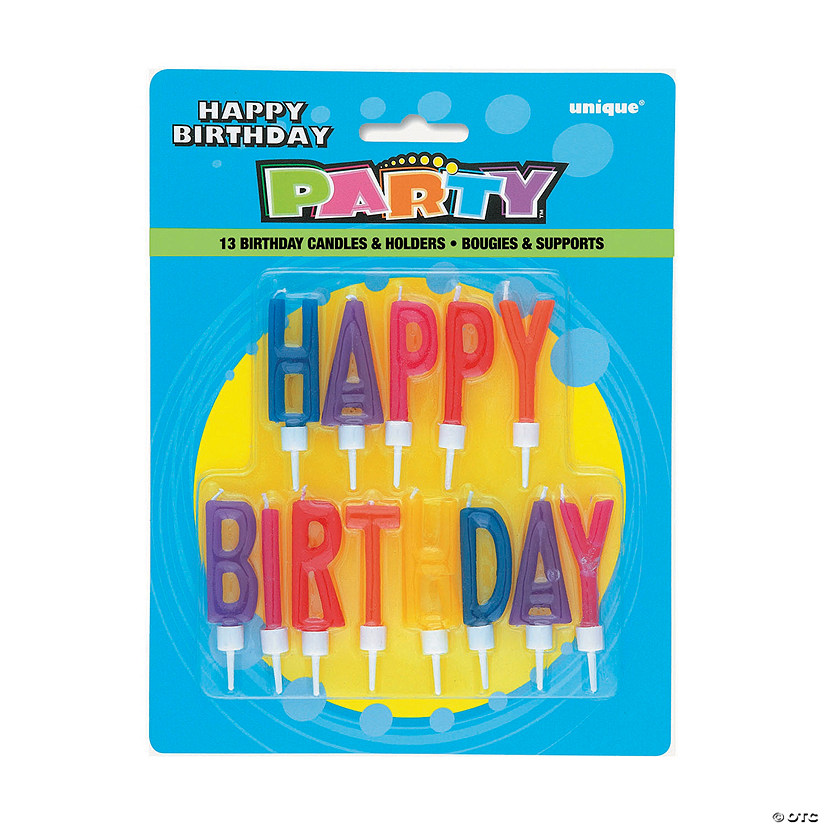 Multicolored Happy Birthday Letter Candles