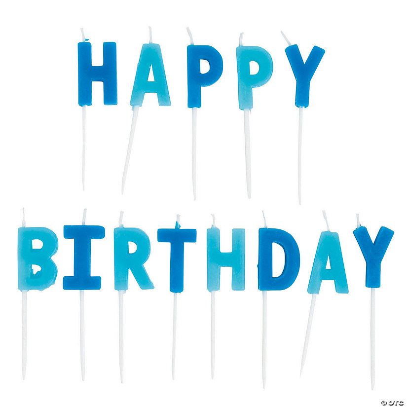 Blue Happy Birthday Letter Candles