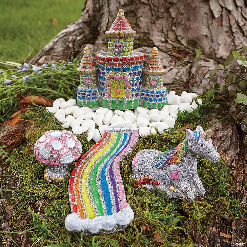 Stone For The Garden: Paint Your Own Stone: Unicorn Garden
