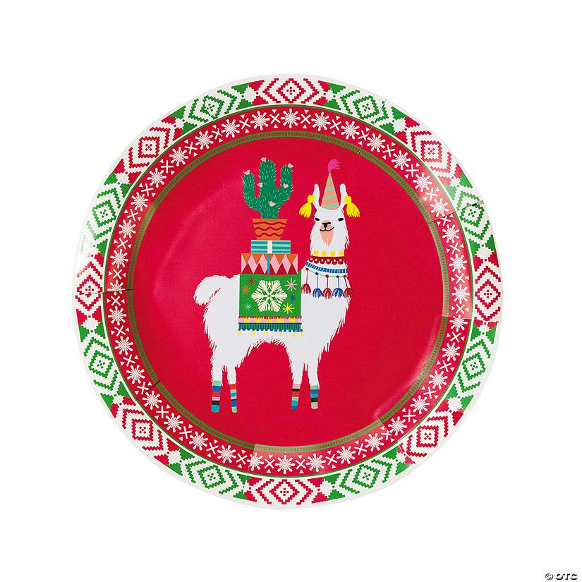 Christmas Paper Plates.Llama Christmas Paper Plates