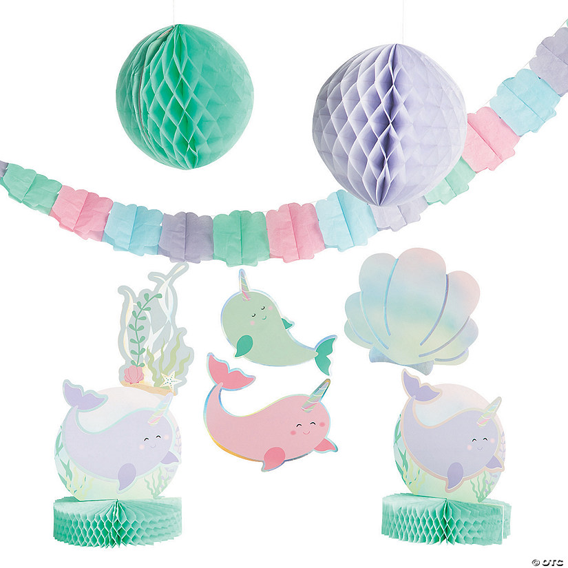 5 Piece Blue Baby Boy Hanging Swirl Decorations New Arrival Party Decorations
