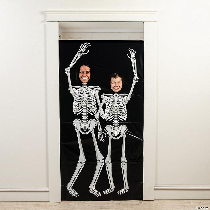 Skeleton Photo Door Banner Halloween Decoration