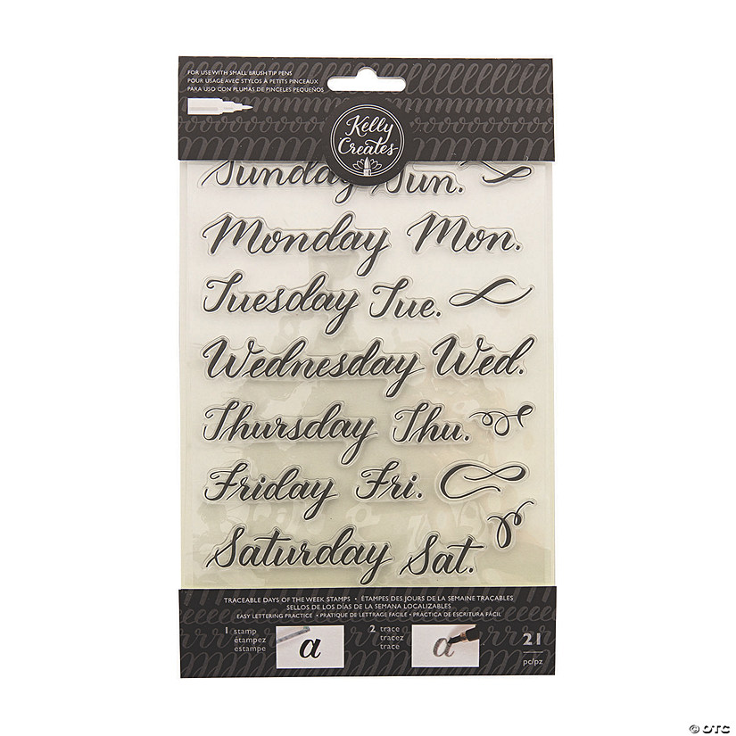 American Crafts Kelly Creates Days Of The Week Traceable Stamps