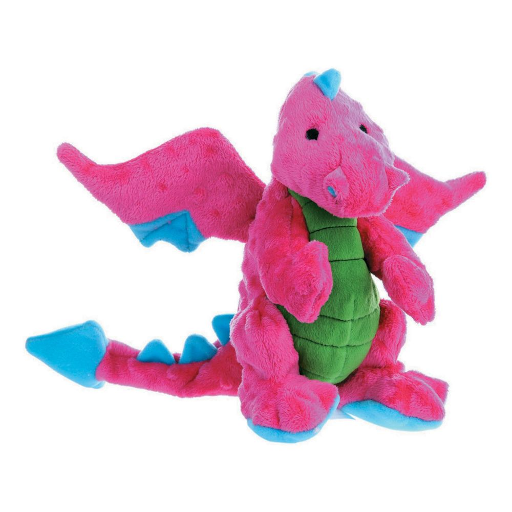 Godog Dragons With Chew Guard Large-Pink
