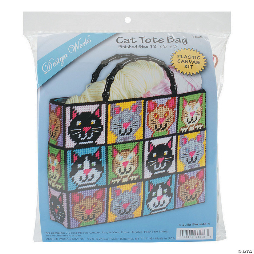 c39560ce6 Plastic Canvas Tote Bag Kit -Cat
