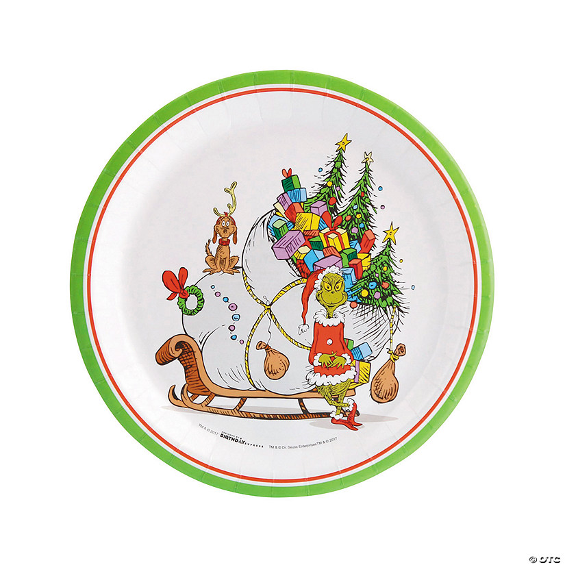 26c0eafe4936 Dr. Seuss™ The Grinch Paper Dinner Plates