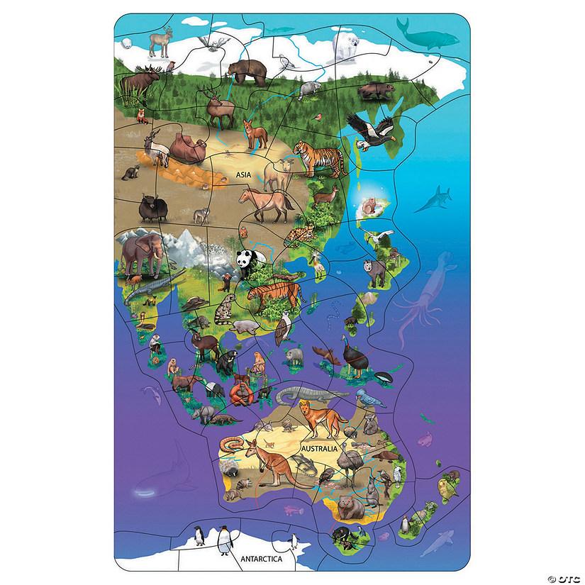 Map Of Asia Australia.Wildlife Map Puzzle Asia Australia