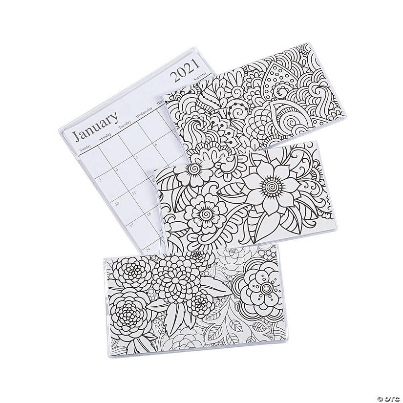 2020 - 2021 Adult Coloring Pocket Calendars